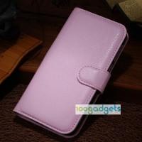 Чехол портмоне подставка с защелкой для Alcatel One Touch Idol Alpha Розовый