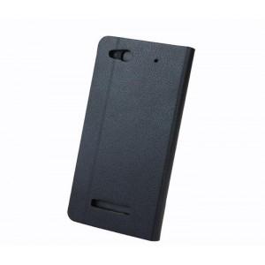 Текстурный чехол флип подставка с отделением для карт для Alcatel One Touch Idol Alpha Черный