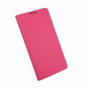 Текстурный чехол флип подставка с отделением для карт для Alcatel One Touch Idol Alpha Пурпурный