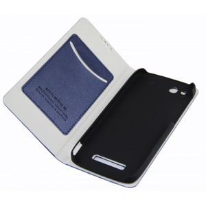 Текстурный чехол флип подставка с отделением для карт для Alcatel One Touch Idol Alpha