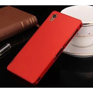 Металлический чехол для Sony Xperia Z3 (Dual) Красный