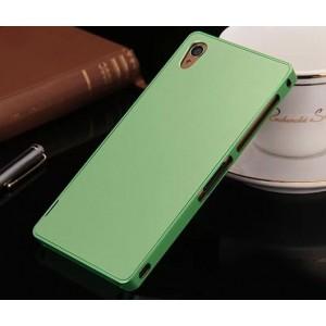 Металлический чехол для Sony Xperia Z3 (Dual) Зеленый
