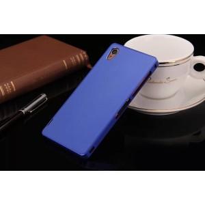 Металлический чехол для Sony Xperia Z3 (Dual) Синий