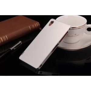 Металлический чехол для Sony Xperia Z3 (Dual) Белый
