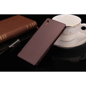 Металлический чехол для Sony Xperia Z3 (Dual) Коричневый