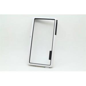 Силиконовый бампер для Sony Xperia Z3 One SIM (D6603, D6616) Белый