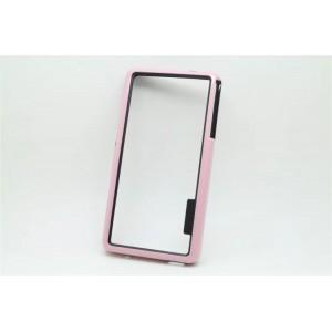 Силиконовый бампер для Sony Xperia Z3 One SIM (D6603, D6616) Розовый