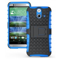 Силиконовый чехол экстрим защита для HTC One E8 Голубой
