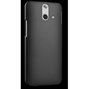 Пластиковый матовый металлик чехол для HTC One E8 Черный