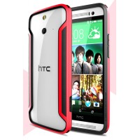 Силиконовый бампер повышенной защиты для HTC One E8 Красный