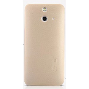 Пластиковый матовый нескользящий премиум чехол для HTC One E8 Бежевый