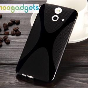Силиконовый X чехол для HTC One E8 Черный