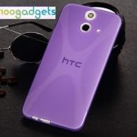 Силиконовый X чехол для HTC One E8 Фиолетовый