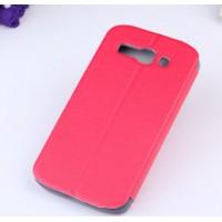 Чехол флип на пластиковой основе серия Colors для Alcatel One Touch Pop C9 Красный