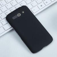 Пластиковый матовый чехол металлик для Alcatel One Touch Pop C9 Черный