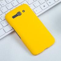 Пластиковый матовый чехол металлик для Alcatel One Touch Pop C9 Желтый