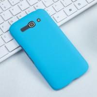 Пластиковый матовый чехол металлик для Alcatel One Touch Pop C9 Голубой
