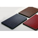 Кожаный чехол подставка (нат. кожа крокодила) на пластиковой основе ручной работы для Ipad Mini 3