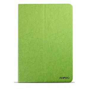 Чехол смарт флип подставка двухстепенной текстурный на пластиковой основе для Ipad Mini 3 Зеленый
