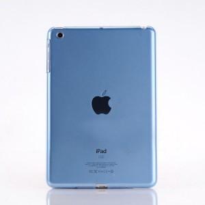 Пластиковый матовый полупрозрачный чехол для Ipad Mini 3 Синий