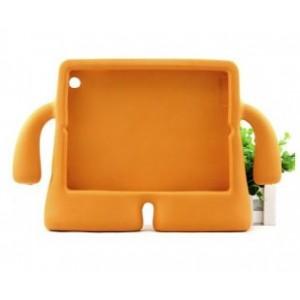 Детский ультразащитный гиппоаллергенный силиконовый фигурный чехол для планшета Ipad Mini 1/2/3 Оранжевый