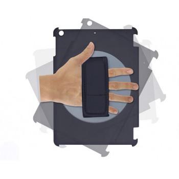 Двухкомпонентный чехол на пластиковой роторной 360 основе с крепежом для кисти и сегментарной смарт крышке подставке для Ipad Mini 3