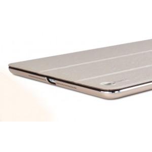 Двухкомпонентный чехол с накладкой металл/поликарбонат и сегментарной смарт крышкой для Ipad Air 2