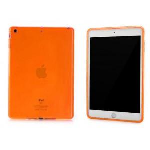 Силиконовый матовый полупрозрачный чехол для Ipad Air 2 Оранжевый