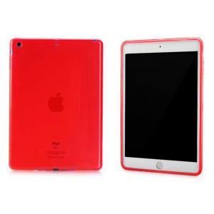 Силиконовый матовый полупрозрачный чехол для Ipad Air 2 Красный