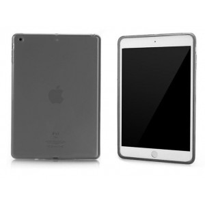 Силиконовый матовый полупрозрачный чехол для Ipad Air 2 Черный