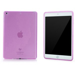 Силиконовый матовый полупрозрачный чехол для Ipad Air 2 Фиолетовый