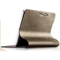 Эксклюзивный гибкий рулонный чехол подставка с нескользящей пластиковой основой для планшета Ipad Air 2 Коричневый