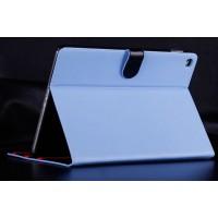 Чехол подставка трехуровневый водоотталкивающий с магнитной застежкой на пластиковой основе для Ipad Air 2 Голубой