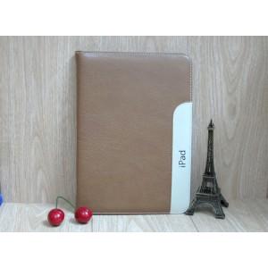 Кожаный чехол с рамочной защитой, креплением для кисти и слотами для карт для Ipad Air 2