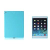 Силиконовый матовый непрозрачный чехол для Ipad Air 2 Голубой