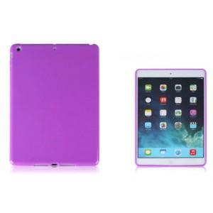 Силиконовый матовый непрозрачный чехол для Ipad Air 2 Фиолетовый