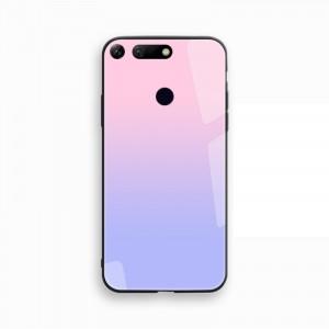 Силиконовый глянцевый градиентный непрозрачный чехол с co стеклянной накладкой для Huawei Honor View 20