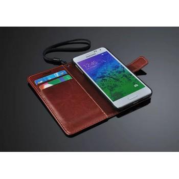 Чехол портмоне подставка с магнитной защелкой для Samsung Galaxy Alpha