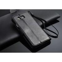 Чехол портмоне подставка с магнитной защелкой для Samsung Galaxy Alpha Черный