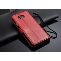 Чехол портмоне подставка с магнитной защелкой для Samsung Galaxy Alpha Красный