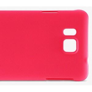 Пластиковый матовый нескользящий премиум чехол для Samsung Galaxy Alpha Красный