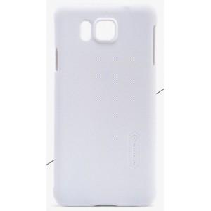 Пластиковый матовый нескользящий премиум чехол для Samsung Galaxy Alpha