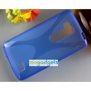 Силиконовый X чехол для LG L Fino Синий
