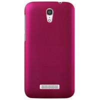 Пластиковый матовый металлик чехол для Alcatel One Touch Pop S7 Пурпурный
