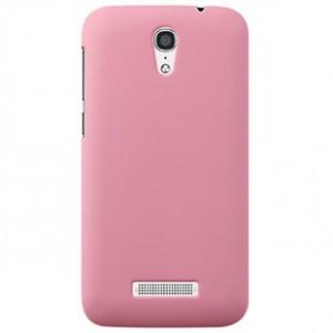 Пластиковый матовый металлик чехол для Alcatel One Touch Pop S7 Розовый