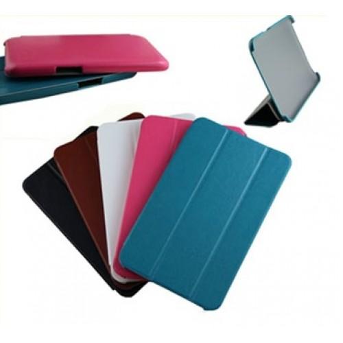 Чехол флип подставка сегментарный на пластиковой основе для планшета Lenovo IdeaTab A1000
