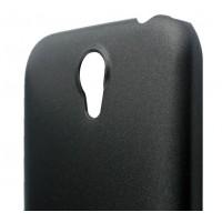 Пластиковый металлик чехол для Lenovo A859 Ideaphone Черный