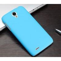 Пластиковый матовый чехол для Lenovo A859 Ideaphone Голубой