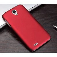 Пластиковый матовый чехол для Lenovo A859 Ideaphone Красный
