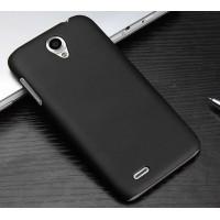Пластиковый матовый чехол для Lenovo A859 Ideaphone Черный